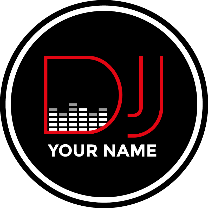 TenStickers. Personalised Name DJ sticker. A perfect sticker for those who love to DJ! Stickers from £1.99. Ideal for all those who fancy themselves as the next Calvin Harris!