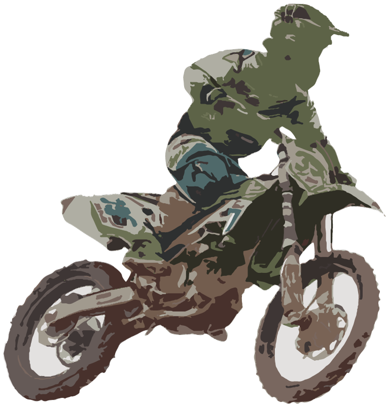 TenStickers. Motocross Racer Wall Sticker. Add some thrills to your room with this fantastic sticker depicting a motocross racer doing his thing! Personalised stickers.