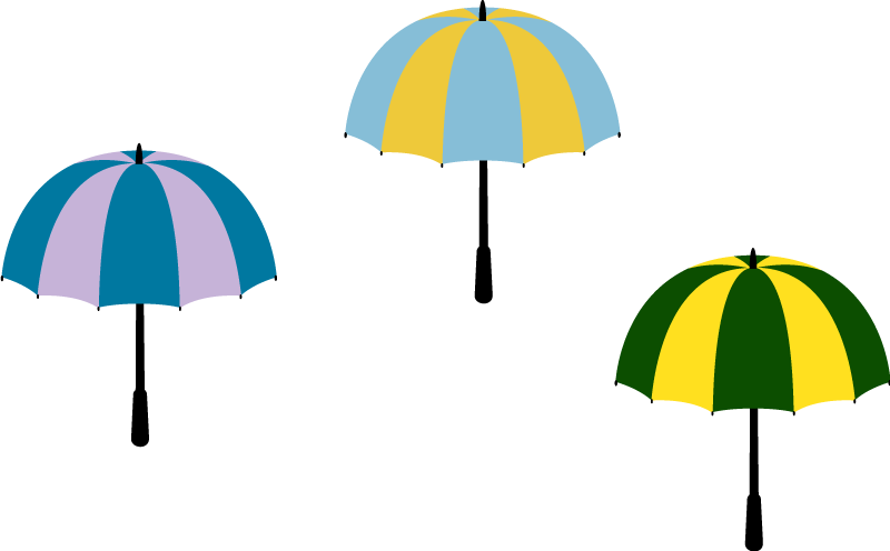 TenStickers. Multicoloured Umbrellas Wall Sticker. Decorate your home with brollies and this brilliant wall sticker! Ideal weather themed decor for those who want it! Discounts available.