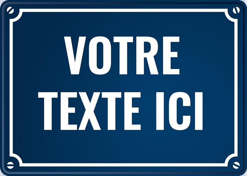 TenStickers. Sticker Plaque de Rue. Devenez propriétaire d'une avenue du monde à votre nom en prenant ce sticker personnalisable dans votre maison. Livraison Rapide.