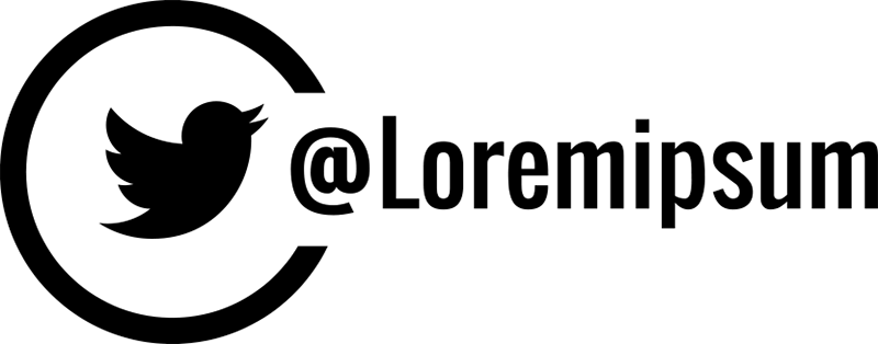 TenStickers. 트위터 비즈니스 창 데칼. 이름 customizatio와 트위터 아이코 닉 로고 디자인 비즈니스 상점 전면 장식 창 비닐 스티커. 적용하기 쉽고 접착제.