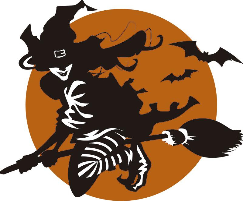 TenStickers. Halloween Witch Wall Sticker. Bring the witch to you this Halloween with this superbly scary wall sticker! Available in 50 colours.
