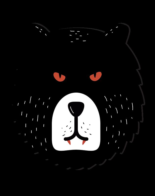 TenStickers. Sticker Mural happy halloween tête d'our. Fêtez Halloweena avec une maison décorez pour l'événement avec ce sticker mural Halloween représentant une tête d'our en colère.