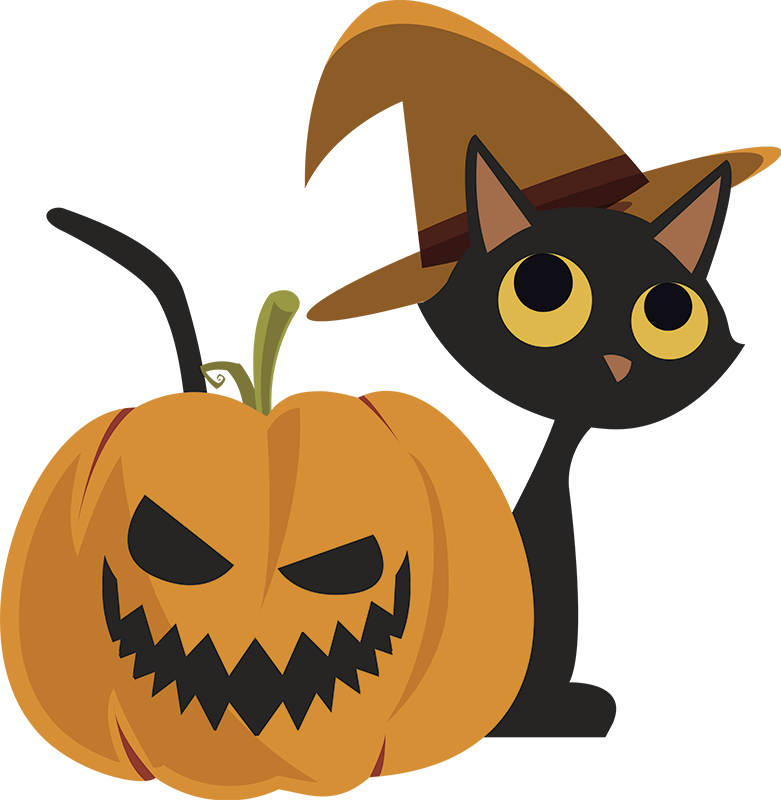 TenStickers. Jack o Lantern and Cat Wall Sticker. Furnish your home this October with our fantastic Halloween Wall Sticker! Ideal for that time in October. Discounts available.