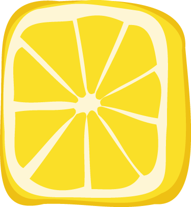 TenStickers. Grocery Fruit Customisable Sticker. Customisable - Promotional - Business Stickers - A design ideal for any retail business. Half cut yellow lemon cube design great for promotions.