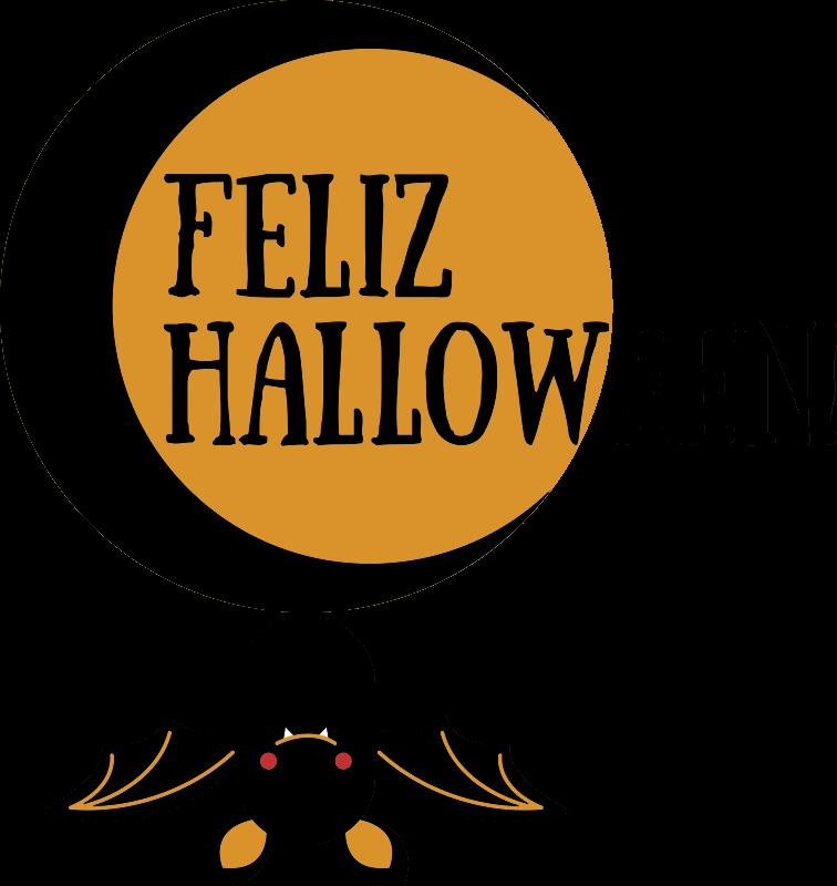 TenVinilo. Vinilo Halloween luna y murciélago. Vinilo decorativo Halloween para decorar negocios en esta fiesta cada vez más popular. Una forma sencilla y efectiva de personalizar tu tienda.