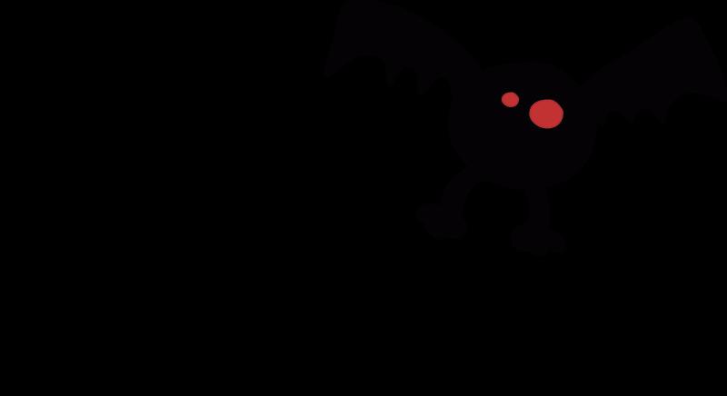TenVinilo. Vinilo  truco o trato Halloween. Pegatina Halloween original con el dibujo de un murciélago de ojos rojos y el texto truco o trato característico. Más de 10.000 clientes satisfechos con nuestros productos