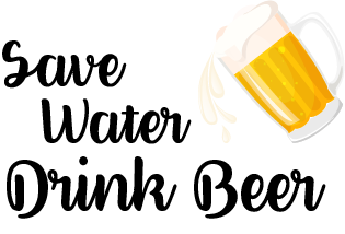 TenStickers. Wandtattoo Spruch Save Water Drink Beer Trinkspruch. ''Save Water Drink Beer'' ist der Nachhaltigkeitsspruch als Wandtattoo für Ihr Zuhause oder Lokal. 24-/48h-Express-Versand