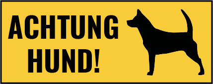 TenStickers. Wandtattoo Flur Achtung Hund Warnschild. Sie wollen ungebetene Gäste fernhalten oder Freunde vorwarnen? Dieses Hund Warnschild ist dafür die angenehmste Lösung für Sie!