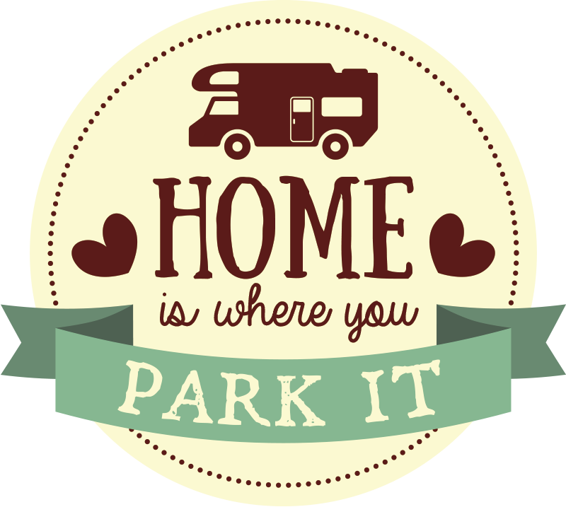 TenStickers. Home is Where you Park It Car Sticker. Decorate any vehicle with this fantastic sticker! Great for caravan and vehicle lovers!
