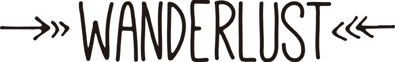 TENSTICKERS. ワンダールームシンプルな家の壁のステッカー. この壁のステッカーであなたの家に旅行するあなたの情熱を示してください。デザインには、単語ワンダールームと2つの矢印が含まれています。色と寸法は調整可能です。