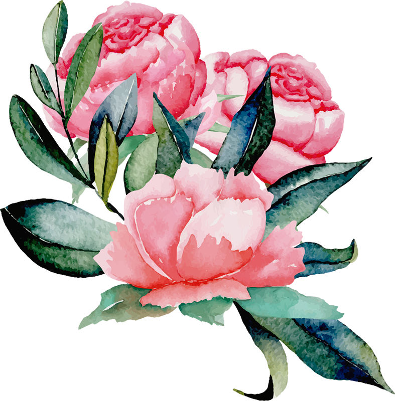 TenStickers. Peonies Wall Sticker. A  gorgeous flower wall sticker depicting a collection of peonies. Ideal for adding some colour to your wall! Available in 50 colours.