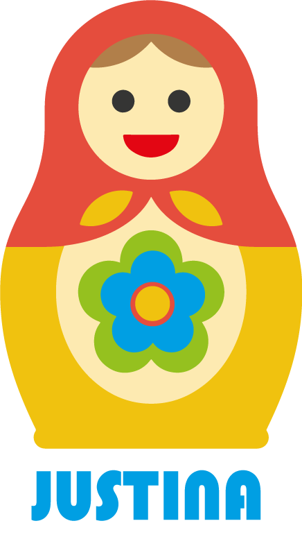 TenStickers. Matryoshka with name toy decal. Decorative Matryoshka toy wall sticker with name personalisation . Available in any desired size and easy to apply. Adhesive and durable.