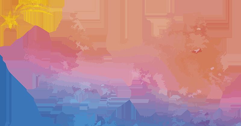 TenStickers. Autocolantes festividades reis magos. Autocolantes decorativos de Natal com silhueta representativa da viagem dos três reis magos ao encontro do menino Jesus.