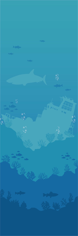 TenStickers. Nalepka vrat za morsko temo. Okrasite svoja vrata s to vrhunsko 3d nalepko z morskimi tematikami! +10. 000 zadovoljnih strank.