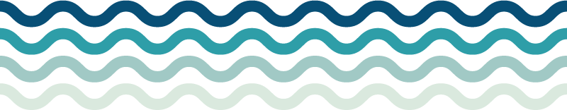 TenVinilo. Vinilo pared olas del mar. Cenefa decorativa adhesiva en forma de cuatro olas del mar con una degradación de tonos azules. Compra Online Segura y Garantizada.