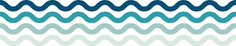 Cenefa adhesiva olas del mar - TenVinilo