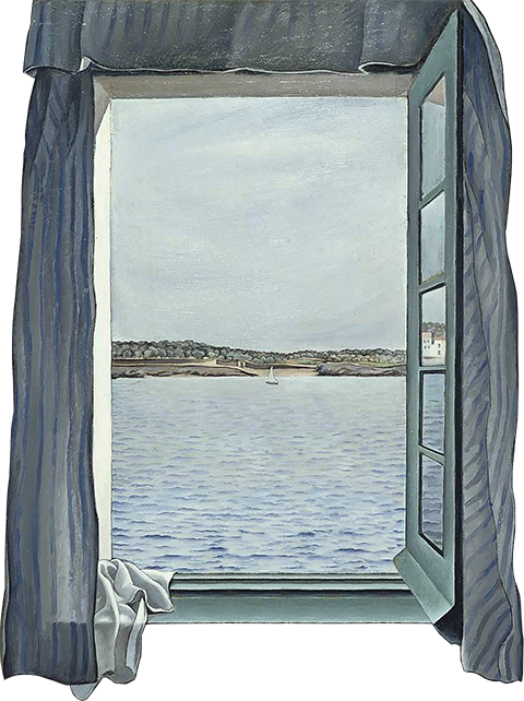 TenStickers. Trompe l'oeil photo of the sea wall sticker. With this wall sticker you can create your own window with a view of the sea. Deceive everyone with this design in trompe l'oeil style.