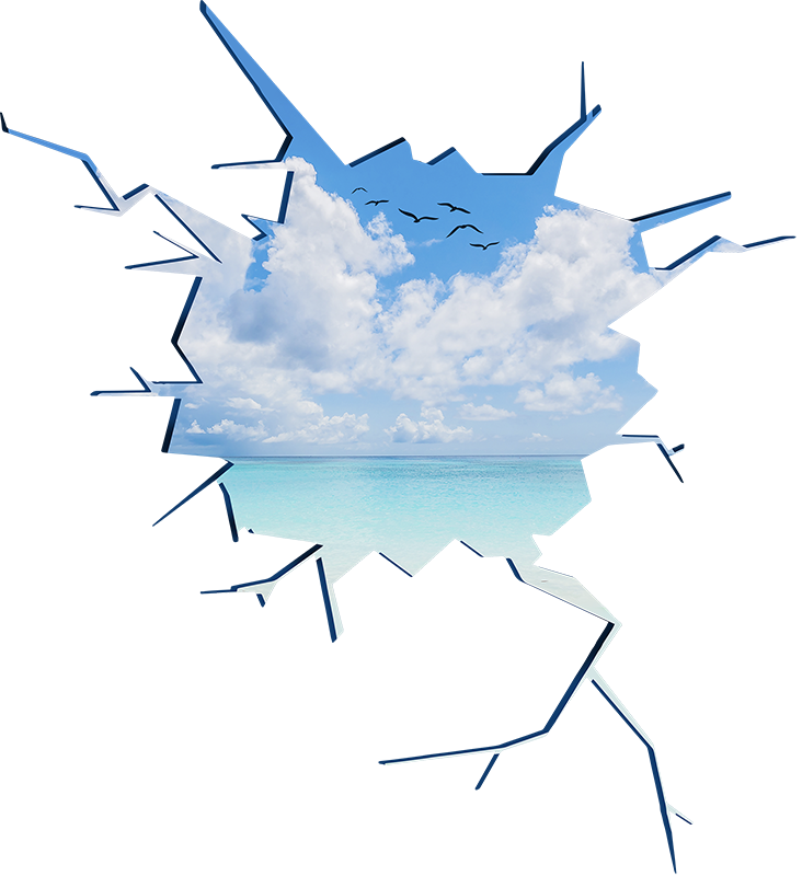 TenStickers. Wandtattoo Jugendzimmer Meeresblick 3D. Dieses Meeresblick 3D Wandtattoo ist einfach eine fantastische Wanddekoration für Ihr Zuhause, ganz egal ob in Wohn- und Schlafzimmer. Riesige Auswahl
