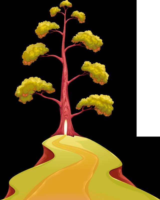 TenStickers. Nalepka magične drevesne stene. Okrasite svoj dom s pridihom čarobnosti, zahvaljujoč tej fantastični drevesni temenski stenski nalepki!