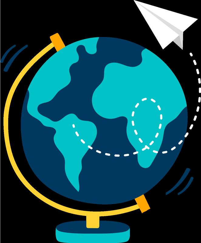 TenStickers. Sticker Illustration Globe. Découvrez une nouvelle manière d'observer notre planète avec un sticker monde de notre globe pour montrer à votre enfant. +50 Couleurs Disponibles.