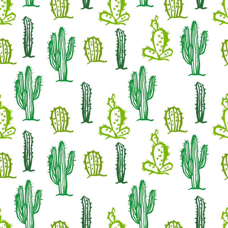 TenStickers. Cacti Collection Furniture Sticker. Add multiple cacti to your home with this fantastic furniture sticker! Free delivery over £45.