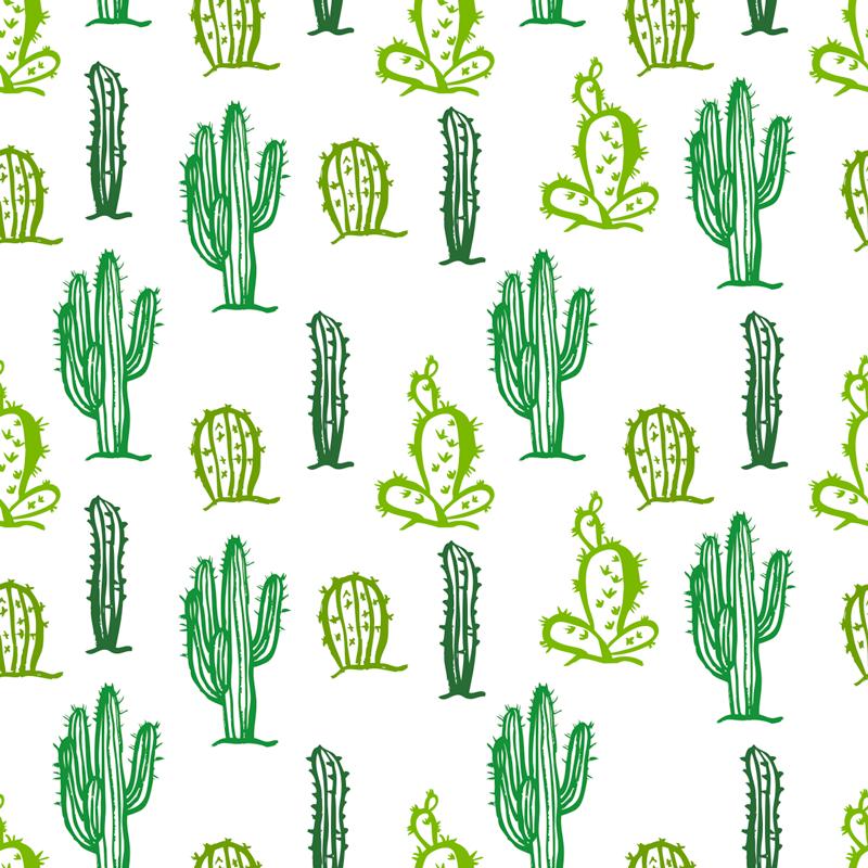 TenVinilo. Vinilo habitación juvenil mueble patrón cactus. Fantástico vinilo adhesivo con estampado de cactus sobre fondo blanco ideal para renovar muebles. Promociones Exclusivas vía e-mail.