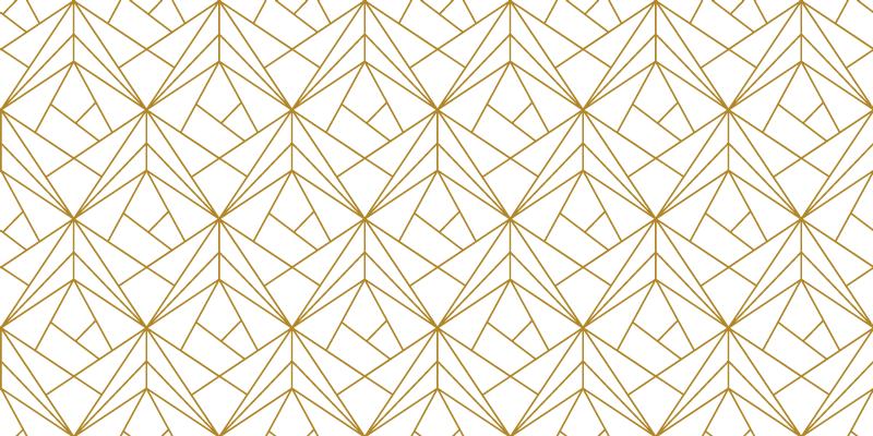 TenStickers. Naklejka na ścianę do sypialni geometryczny złoty wzór. Okleina na meble to oryginalna dekoracja do nowoczesnego pomieszczenia, to złoty, geometryczny wzór, który świetnie się sprawdzi  na każdym tle!