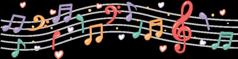 Cenefa Adhesiva Notas Musicales Tenvinilo