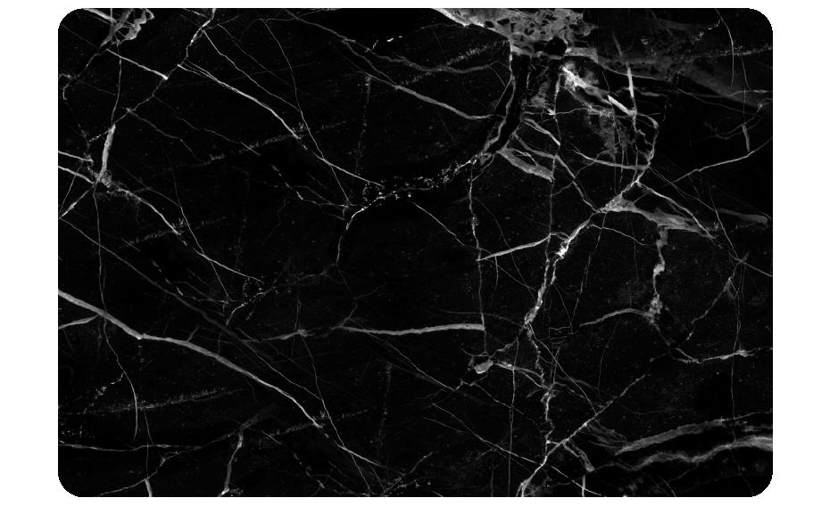 TenStickers. Autocolantes ornamentais marmore preto. Este vivnil autocolante com padrão de mármore vai dar ao portátil ou tablet a elegaância que tanto procurou. Fácil aplicação.