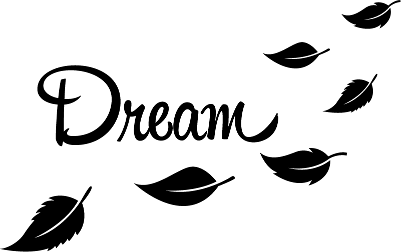 TenStickers. Dream with Leaves Laptop Sticker. Decorate your laptop with this fantastic laptop decal! All the dreamers out there should pay attention! Anti-bubble vinyl.