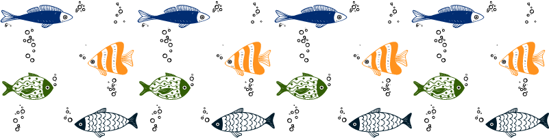 TenStickers. Fish Pattern Wall Sticker. Decorate any wall in your home with this fantastic fish pattern wall sticker! Tailor made for all those who are just in love with fish!