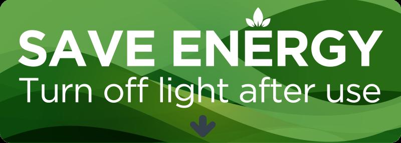"""TenStickers. Tekst muursticker energiebesparingsschakelaar. Maak uw gezinsleden of huisgenoten bewust van energiebesparing middels deze tekst sticker """"Save energy. Turn off lights after use"""". Ervaren ontwerpteam."""