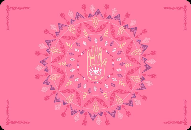 TenStickers. Abstracte sticker hand van Fatima. Creëer een geheel nieuwe look met deze inspirerende laptop sticker van het handje van Fatima. Afmetingen aanpasbaar. Eenvoudig aan te brengen.