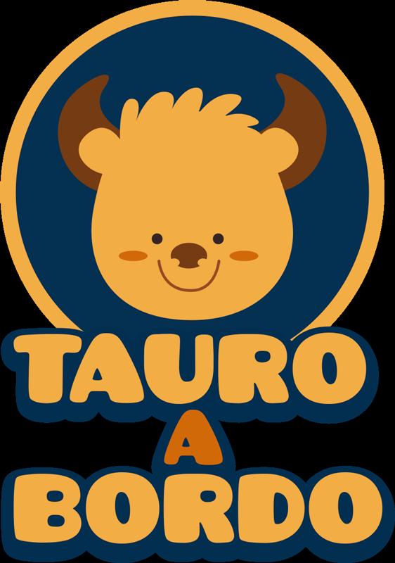 "TenVinilo. Pegatina para coche signos del zodiaco. Original vinilo adhesivo para el coche del signo del zodiaco de Tauro, con la frase ""Tauro a bordo"". Promociones Exclusivas vía e-mail."