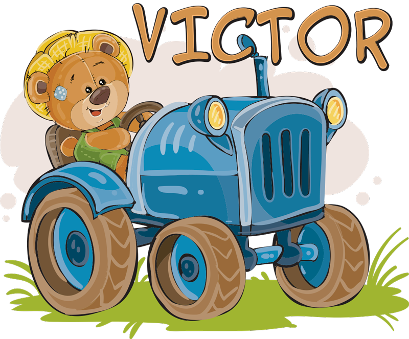TenStickers. Children´s Tractor Customisable Sticker. Bring the tractor to your child with this fantastic wall sticker! Stickers from £1.99.