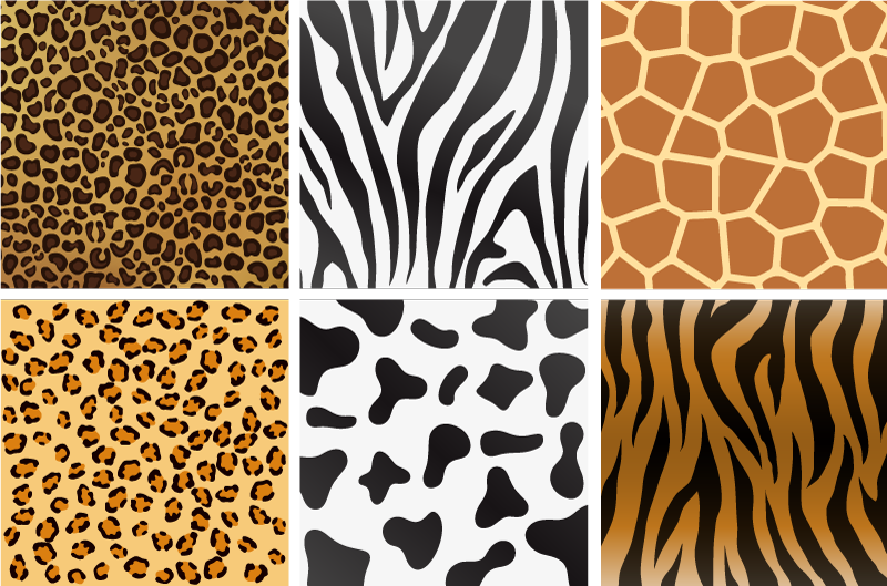 TenStickers. Varied Animal Print Tile Stickers. Furnish your home with this fantastic collection of tile stickers! Choose your size.
