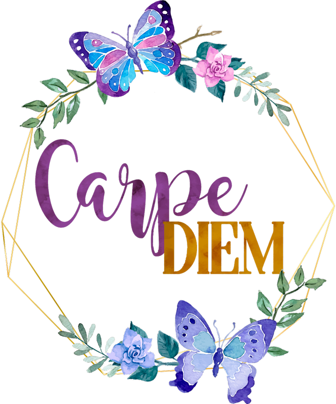 TenStickers. Carpe Diem Flowers Wall Sticker. A fantastic piece of motivational home decor for anywhere in your home! Discounts available.