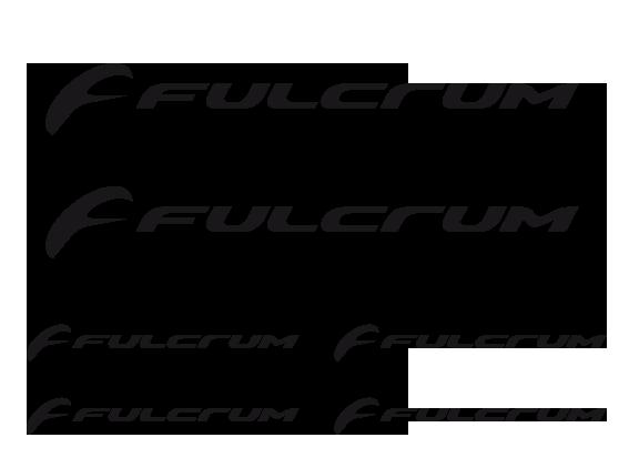 TenStickers. Vinil para bicicletas Logo Fulcrum. Dá um toque especial à tua bicicleta com este magnífico kit de pequenos autocolantes decorativos para bicicletas do logo da Fulcrum!
