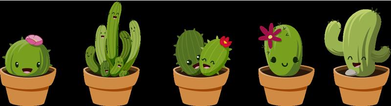 TenStickers. Kaktuszgyűjteményes falmatricák. Adjon hozzá kaktuszokat otthonához ezzel a fantasztikus fali matrica-kollekcióval! Elérhető kedvezmények.