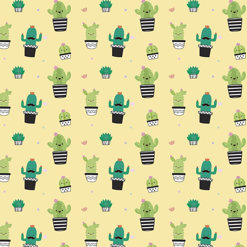TenStickers. Kinderkamer muursticker cactus patroon tekening. Breng elke ruimte tot leven met deze vrolijke cactussen muursticker. Verkrijgbaar in verschillende afmetingen. Ervaren ontwerpteam.