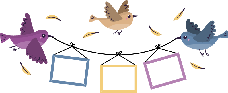 TenVinilo. Vinilo decorativo marco fotos de pájaros. ¡Decora tu hogar con algunas de tus fotos favoritas gracias a este fantástico vinilo personalizado fotos adhesivo de pájaros! ¡Envío a domicilio!