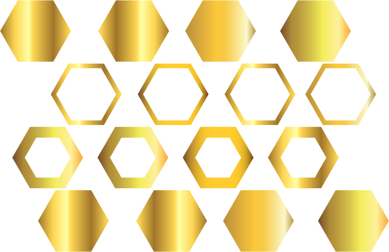 TenStickers. Golden Honeycomb Wall Sticker. Give your home the Midas touch with this fantastic wall sticker! Easy to apply.