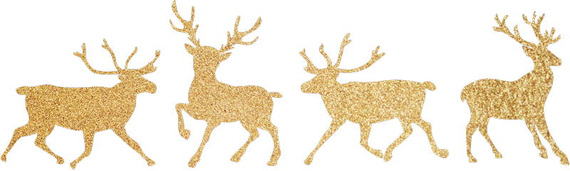 TenStickers. Gold Reindeer Christmas Wall Stickers. Furnish your home this Christmas with these fantastic golden stickers! Sign up for 10% off.
