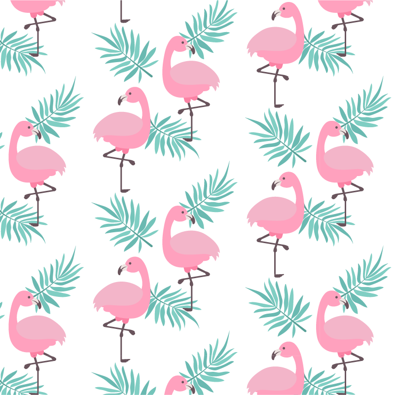 TenStickers. Exotic Flamingos Wall Sticker. Add some flamingos to your wall with this fantastic animal wall sticker! +10,000 satisfied customers.