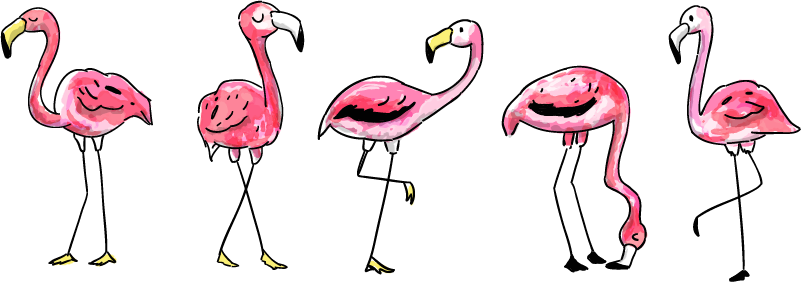 TenStickers. Children´s Flamingo Wall Sticker. Decorate the wall of your child´s bedroom with this fantastic flamingo themed wall sticker! Extremely long-lasting material.