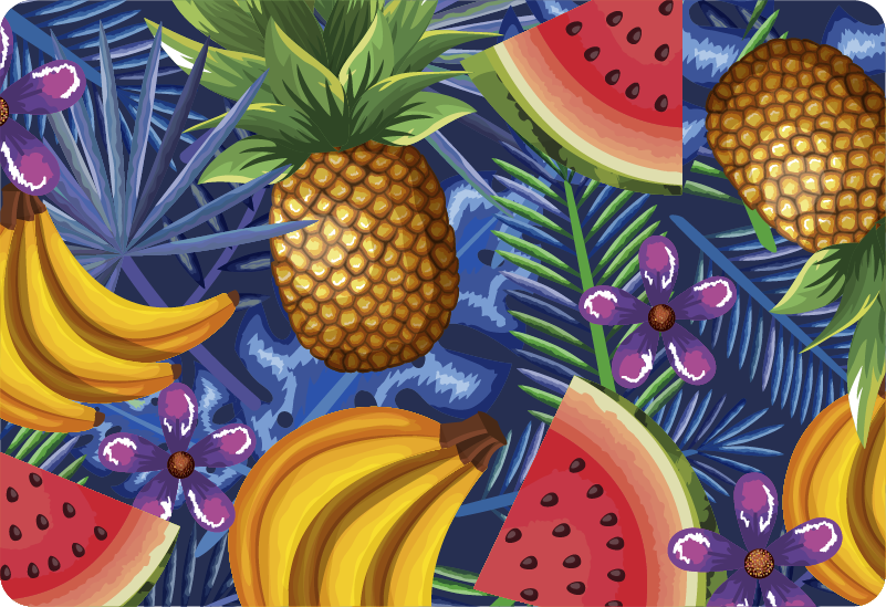 TenStickers. Exotic Fruits Laptop Cover Sticker. Add some fruit to your laptop with this fantastic laptop decal! Easy to apply.