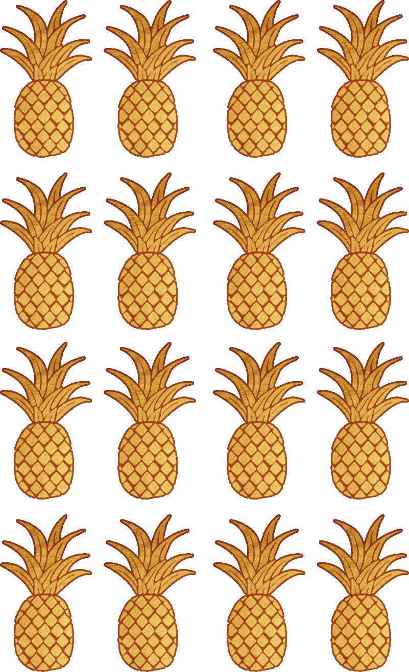 TenStickers. Aufkleber Wohnzimmer Ananas Icons. Bring Leben in dein Zuhause und bringe diese coolen Früchte Sticker an der Wand im präferierten Raum an. Versiertes Designerteam
