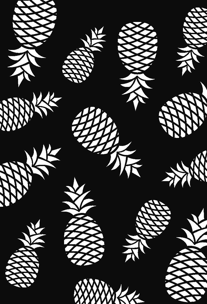 TenStickers. Autocolantes de Gastronomia padrão ananases. Autocolante decorativo com desenhos ideal para decorar a sala de estar. Com estes vinis autocolantes decorativos de gastronomia a sua casa vai ser o tema de conversa de todos os seus amigos.
