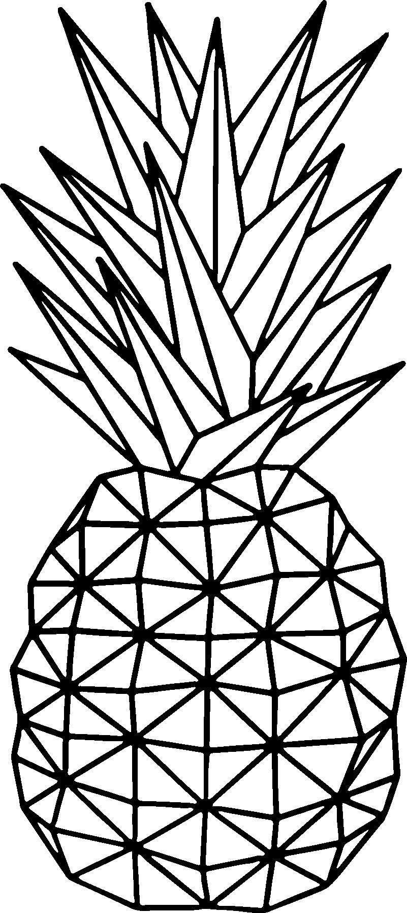 TenVinilo. Vinilo cocina Piña geométrica. Original vinilo adhesivo monocolor de estilo minimalista con el diseño de un piña realizada con líneas rectas. Promociones Exclusivas vía e-mail.